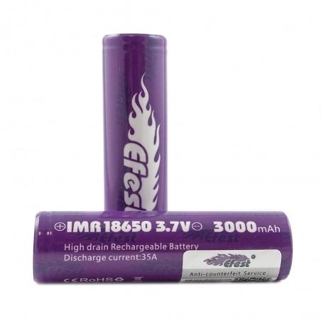 EFEST IMR 18650 3000mah 35a - Flat Top 11,88€