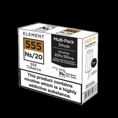 Pod NS Elements - 555 Tabac / classique 11,90€