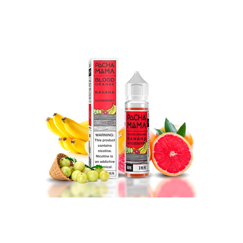 Pacha mama, Blood Orange Banana Gooseberry, 50ml 23,90€