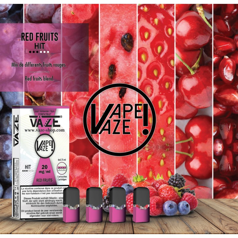 Cartouches Red Fruits, Vaze 10,90€