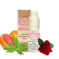 Eisenkraut und rosa Grapefruit Pulp