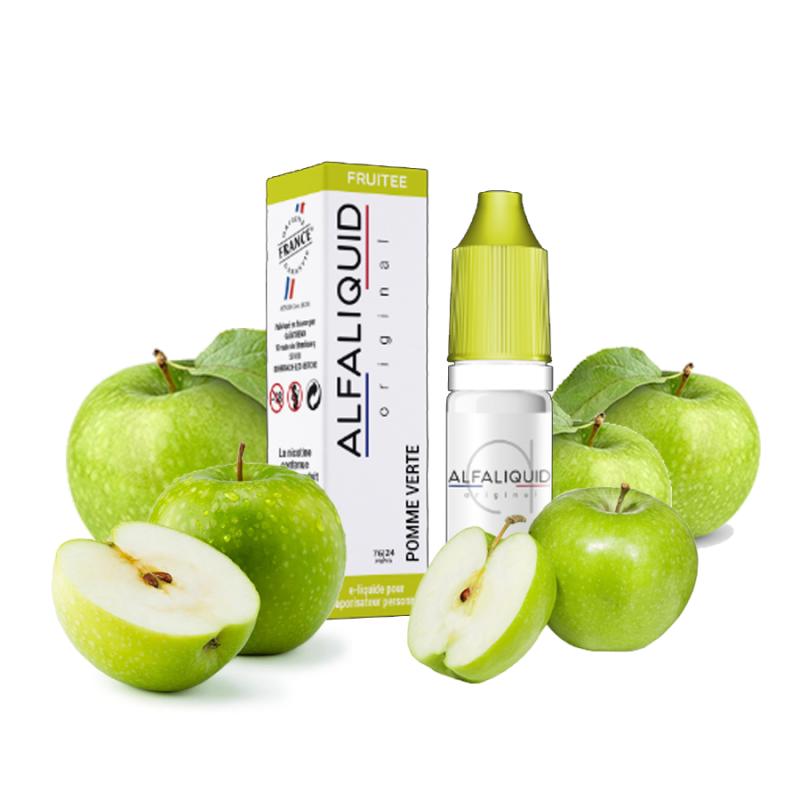 E-liquide Pomme verte - 10ml Alfaliquid