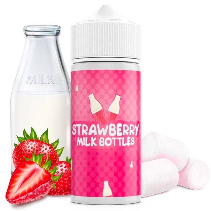 E-liquide Strawberry Milk Bottles - 100ml Vape Royale