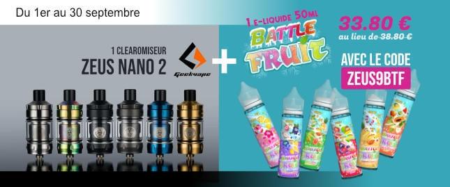 1 clearo Z Nano 2 + 1 e-liquide Battle Fruit
